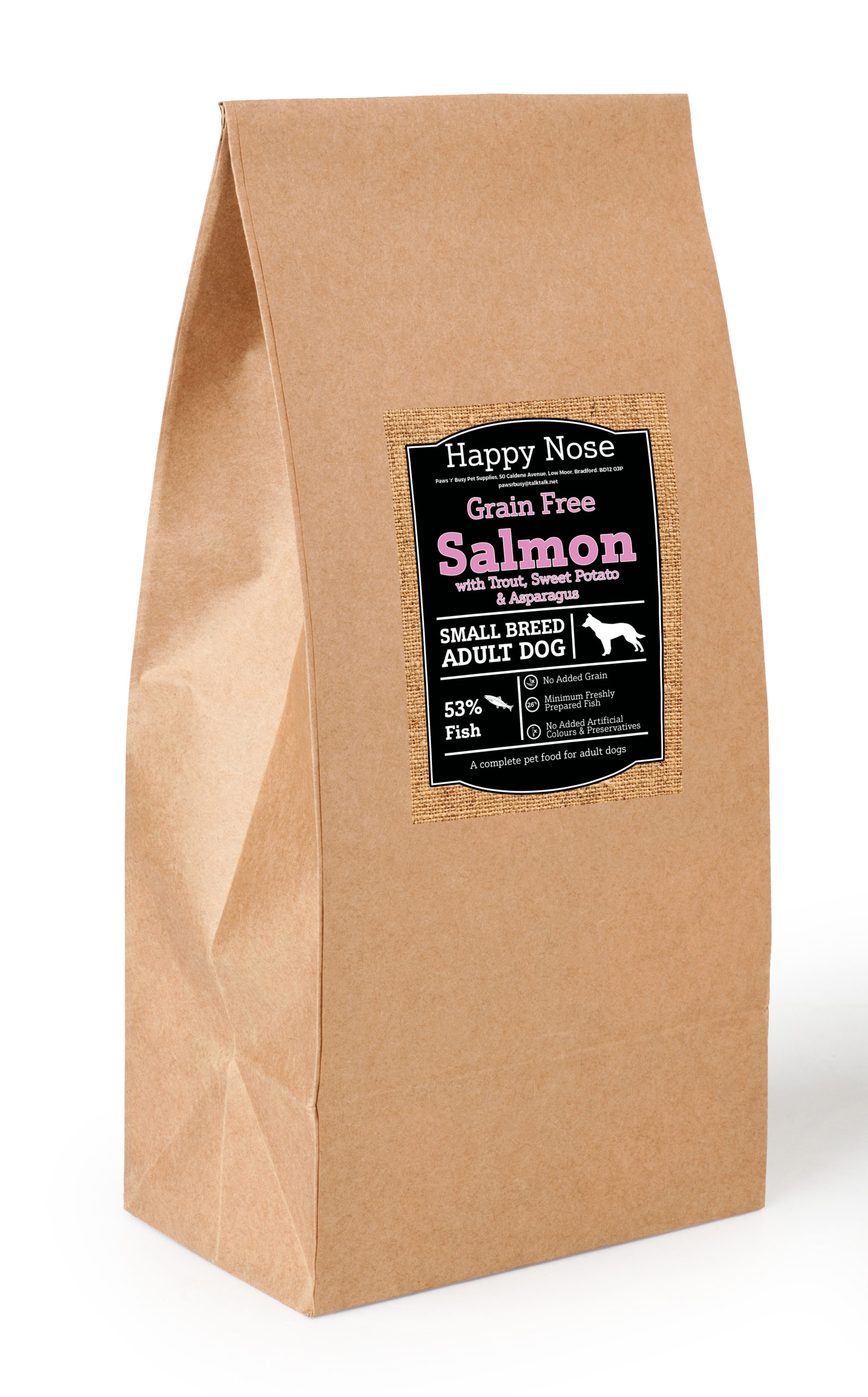 Small Breed Salmon, Trout, Sweet Potato & Asparagus Adult Dog Food