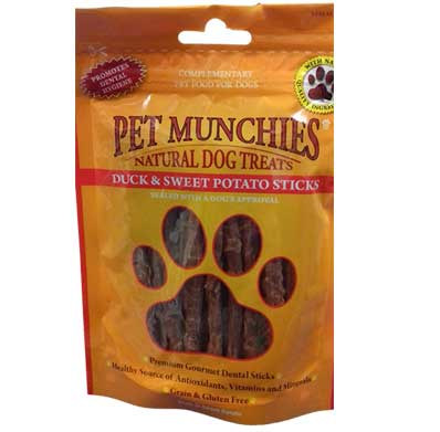 Pet Munchies Duck & Sweet Potato Sticks – 90g