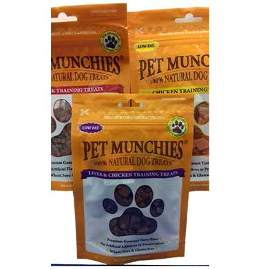 Pet Munchies Trio Of Natural Training Treats