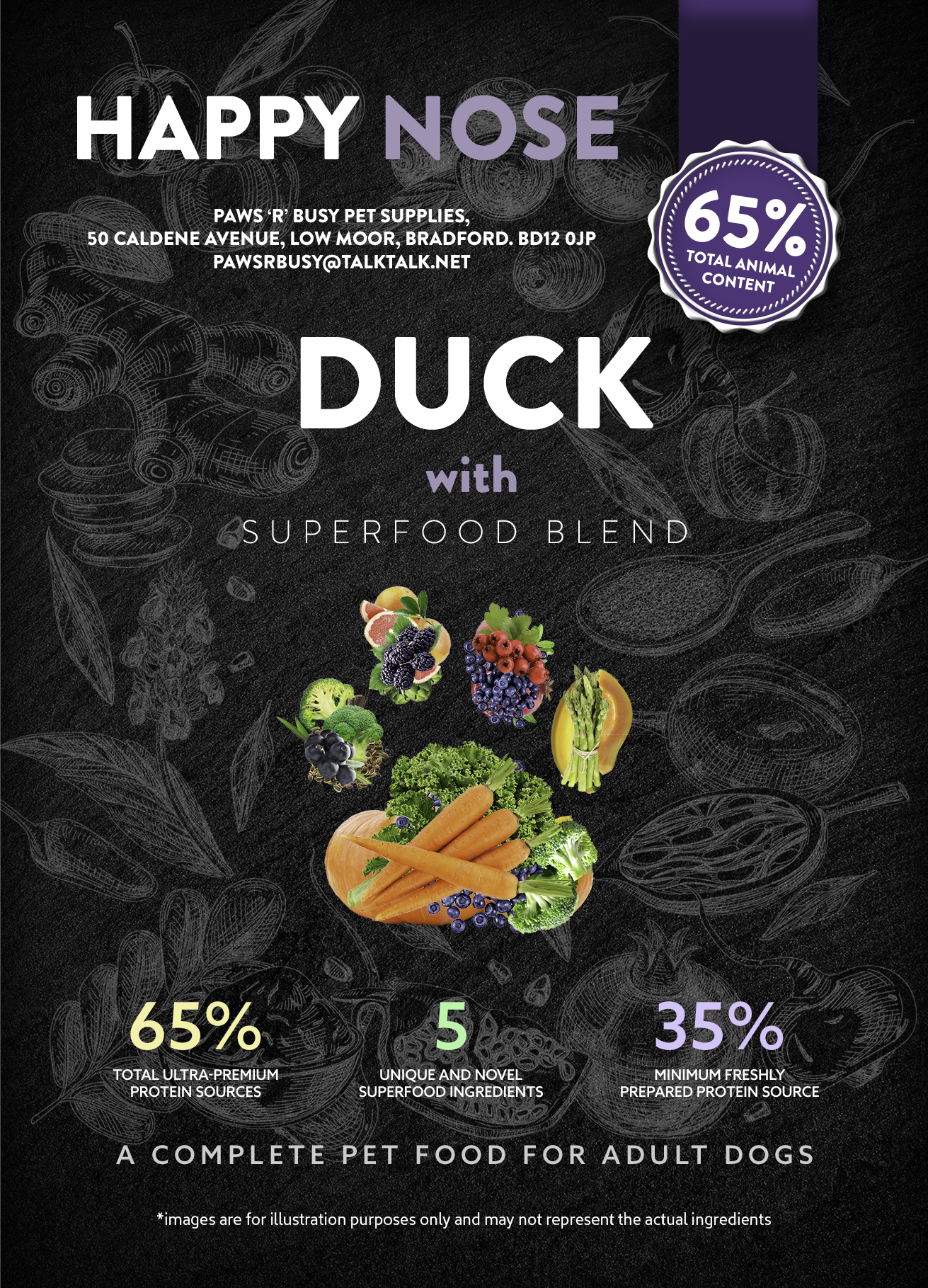 Sample Packs – 2 X 100g Superfood Duck Adult