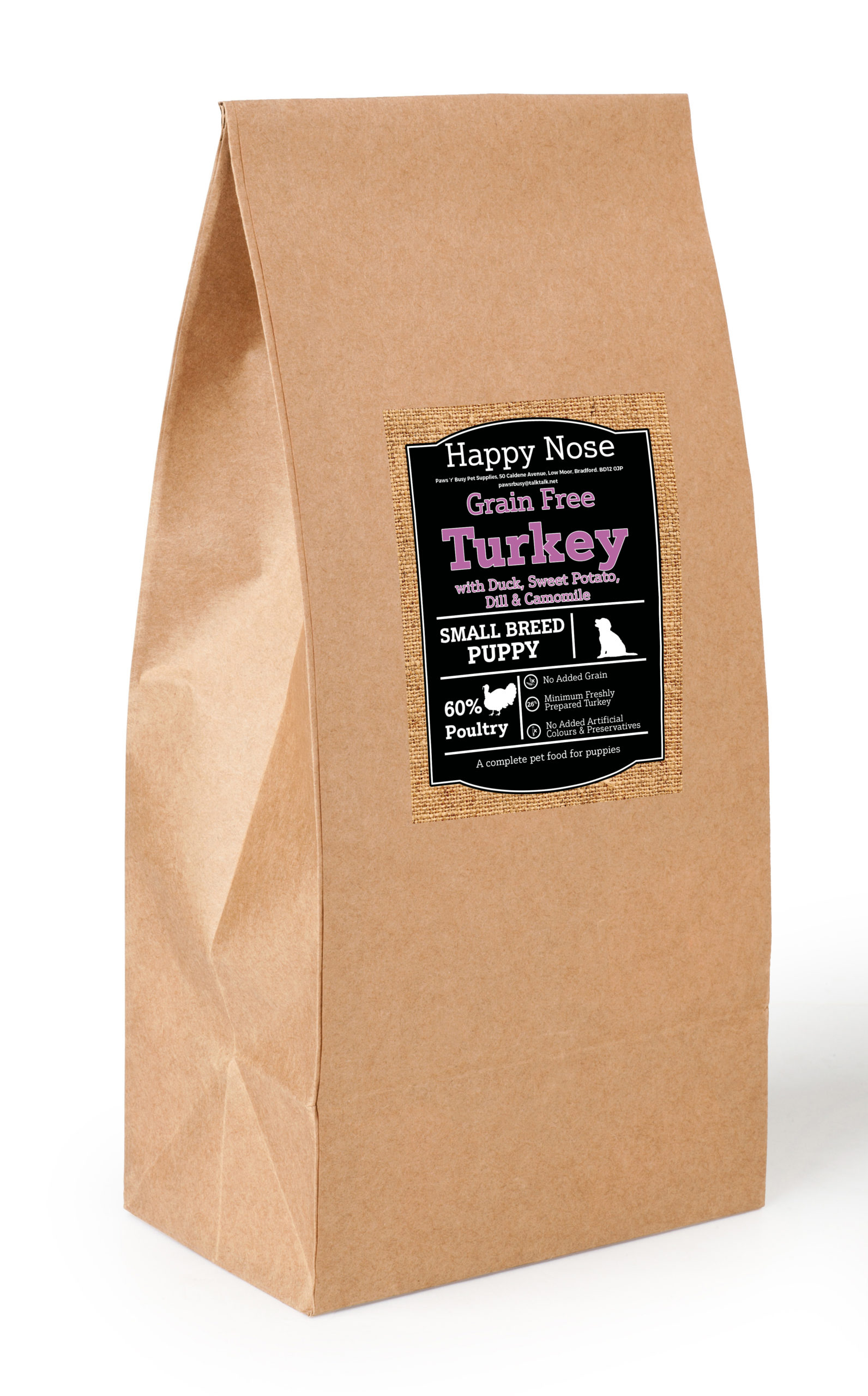 Small Breed Grain Free Turkey,Duck & Sweet Potato Puppy Food